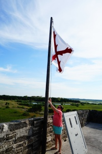 Flag Lowering Fort Matanzas