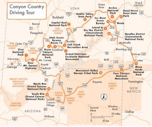 Canyon Country Map