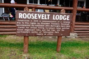 Roosevelt Lodge Sign