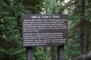 Uncle Tom's Trail Sign